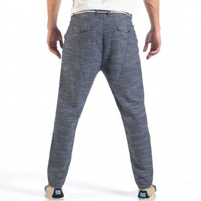 Мъжки сини леки панталони с колан шнур it260318-108 4