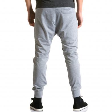 Мъжки светло сиви потури с ципове на предните джобове ca270115-1 3