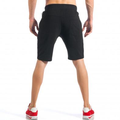 Черни мъжки шорти с ципове на крачолите it110418-26 4