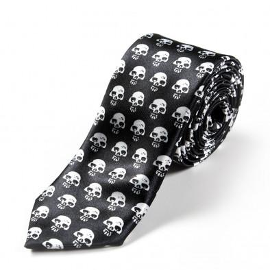 Вратовръзка slim fit с малки черепи 060213-7 3
