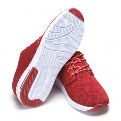 Мъжки червени маратонки супер леки ca110416-1 4
