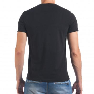 Мъжка черна тениска Live Fast Die Last Just Relax 4