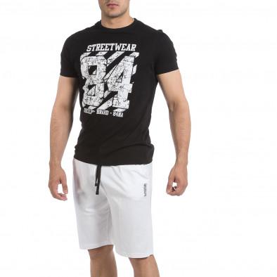 Мъжки комплект Streetwear в черно и бяло it040621-3 2