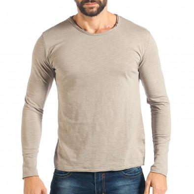 Мъжка сива блуза изчистен модел it301017-95 2