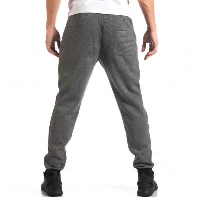 Мъжко светло сиво долнище с черен контур на джобвете it160916-35 3