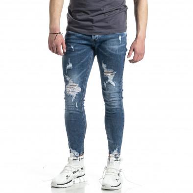 Мъжки сини дънки Destroyed  gr270221-6 2