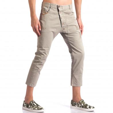 Зелен мъжки панталон 7/8 тип потури it250416-29 4