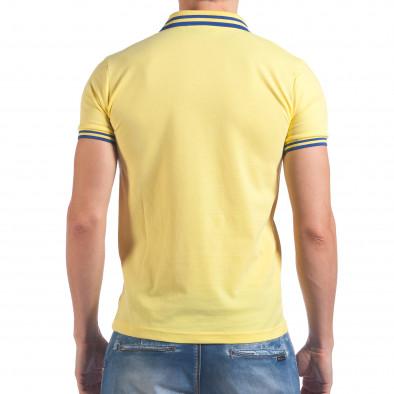 Мъжка жълта тениска с яка F Coach il060616-106 3