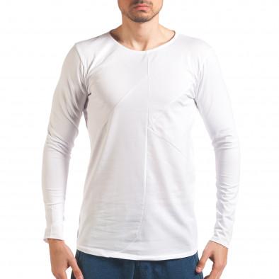 Бяла мъжка блуза с дълъг ръкав it250416-75 2