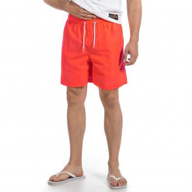 Мъжки неоново оранжев бански изчистен модел it140317-190 3