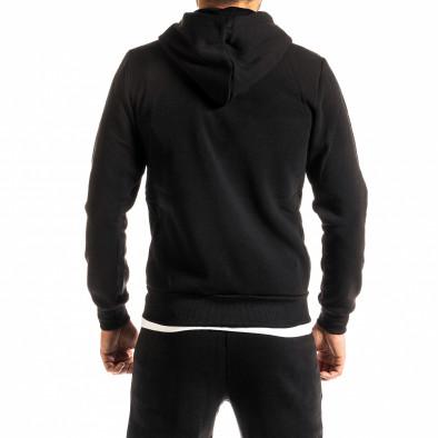 Мъжки черен суичър с цип Brooklyn it300920-44 3