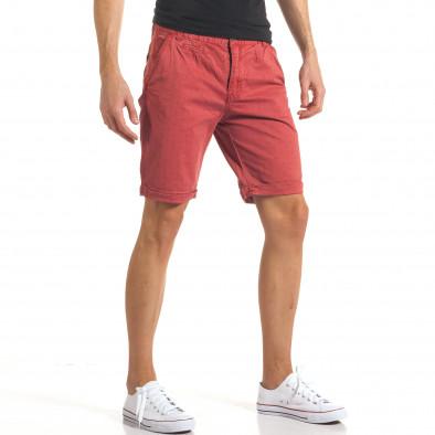 Мъжки червени къси панталони с малки черни точки it140317-155 4
