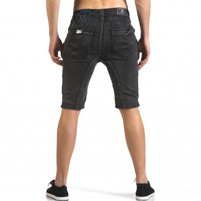 Мъжки сиви къси дънки с допълнителни джобове it110316-65 3