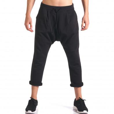Мъжки потури с джобове отпред черни it260416-35 2