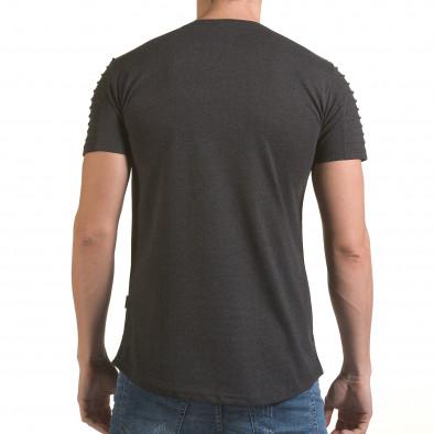Мъжка сива тениска с надпис Life is a Laugh Click Bomb 4