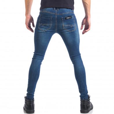 Мъжки дънки супер слим фит изчистен модел it041217-48 3
