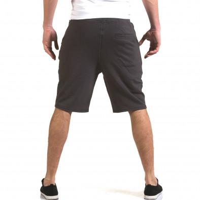 Мъжки сиви шорти с надпис New Brams 5
