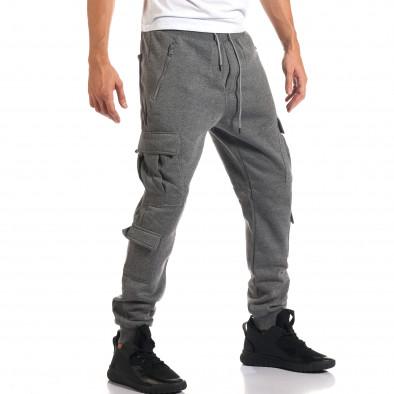 Мъжки сиви потури с джобове на крачолите it160916-25 4