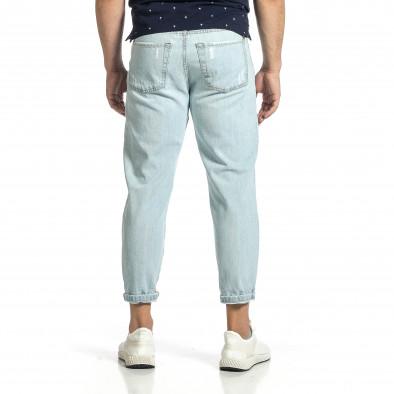 Loose fit мъжки сини дънки с прокъсвания it150521-40 3