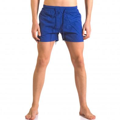 Мъжки сини бански шорти с джобове ca050416-5 2