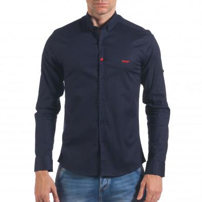 Мъжка синя риза класически модел il060616-112 2