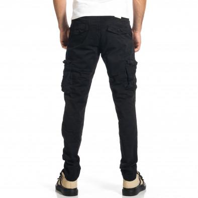 Мъжки черен панталон с прави крачоли & Big Size tr270421-15 3