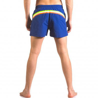 Мъжки сини бански шорти с джобове ca050416-5 3