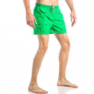 Мъжки зелен бански на акули it040518-102 3