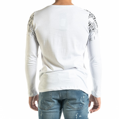 Мъжка бяла блуза с надписи tr020920-48 3