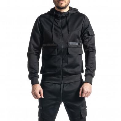 Мъжки черен спортен комплект 7джоба it010221-55 4
