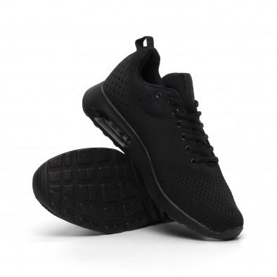 Мъжки черни маратонки с въздушна камера it260919-9 4