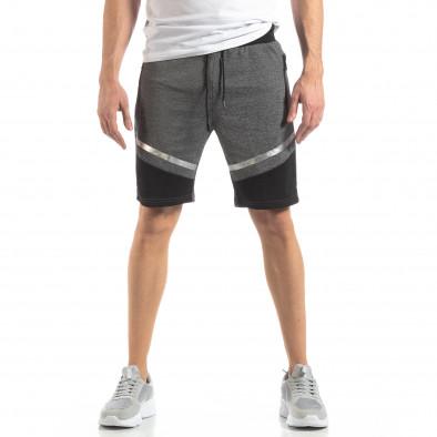 Мъжки шорти в сиво сребрист акцент it210319-68 3