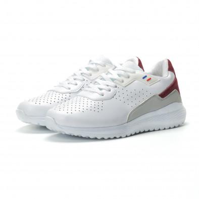 Ултралеки мъжки маратонки в бяло с акцент it250119-17 3