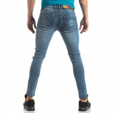 Еластични мъжки дънки Slim fit в синьо it210319-4 4