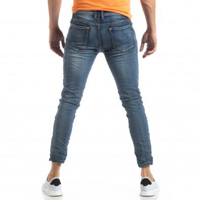 Мъжки сини намачкани еластични дънки it210319-3 4