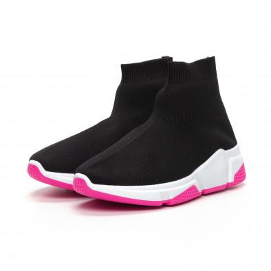 Черни дамски маратонки тип чорап Chunky подметка it240419-57 3