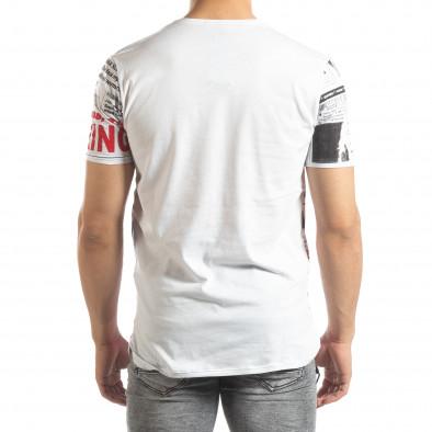 Мъжка тениска Exclusive News в бяло it150419-86 3