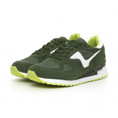 Комбинирани мъжки маратонки в зелени нюанси it130819-9 3