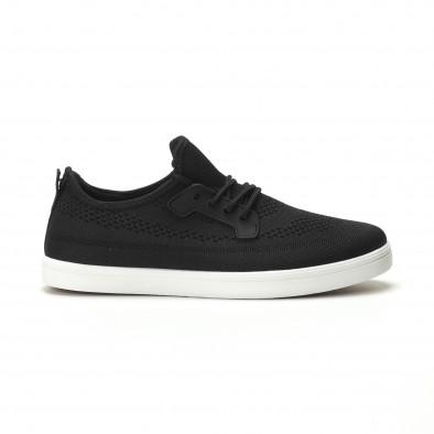 Мъжки леки спортни обувки в черно it250119-14 2