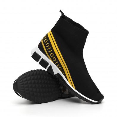 Мъжки маратонки тип чорап жълт кант it260919-11 5