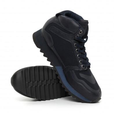 Мъжки високи спортни обувки в синьо it130819-24 4