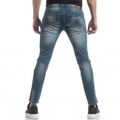 Хитови мъжки дънки с кантове и кръпки it040219-27 4