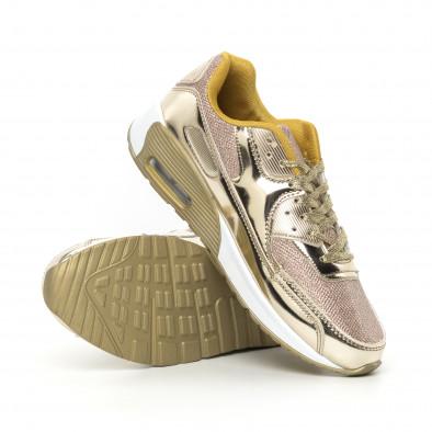Златисти мъжки маратонки с въздушна камера it130819-31 4