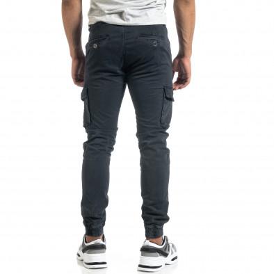 Мъжки рокерски карго панталон в сиво it041019-41 4