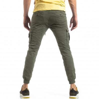 Зелен карго панталон с трикотажни маншети it210319-20 4