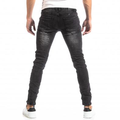 Рокерски мъжки дънки в черно it261018-2 4