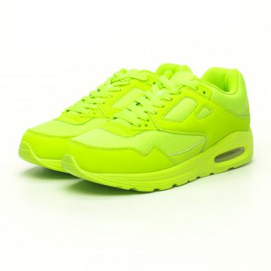 Мъжки маратонки с въздушна камера неоново зелено it251019-9 3