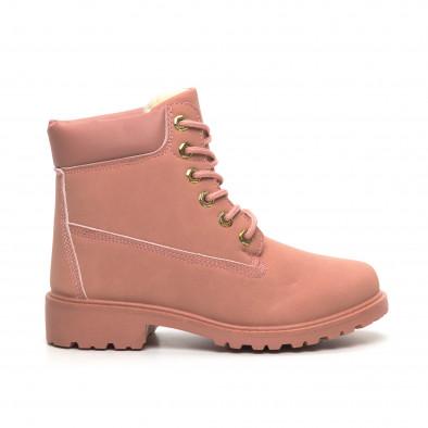 Дамски розови боти с подплата it260919-52 2
