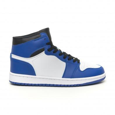 Високи мъжки кецове в синьо и бяло it251019-21 3