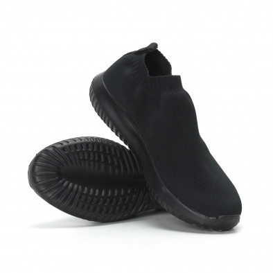 Ниски мъжки маратонки тип чорап All black it190219-11 4